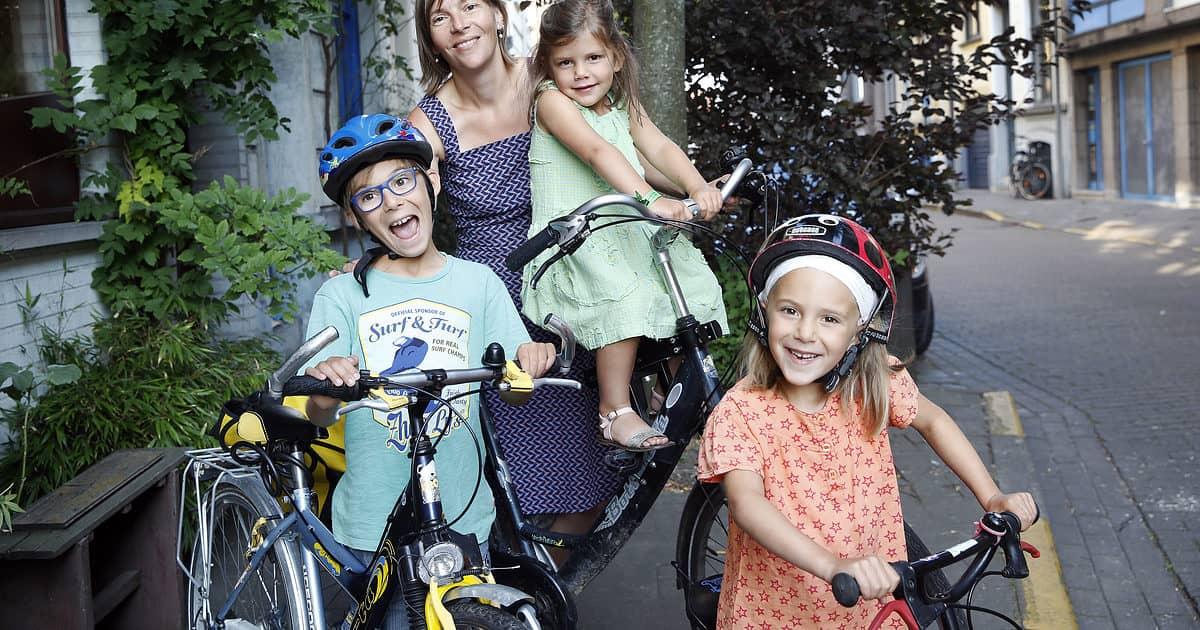 gezin zonder auto