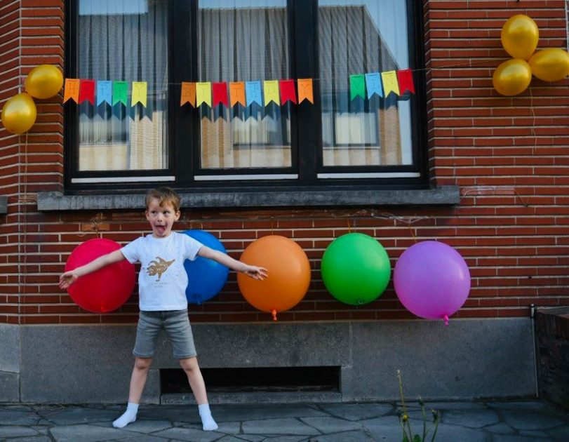 verjaardag vieren in lockdown: vinz huis