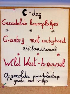 menu op kamp