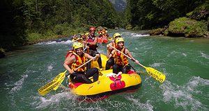 actieve vakantie met kinderen rafting