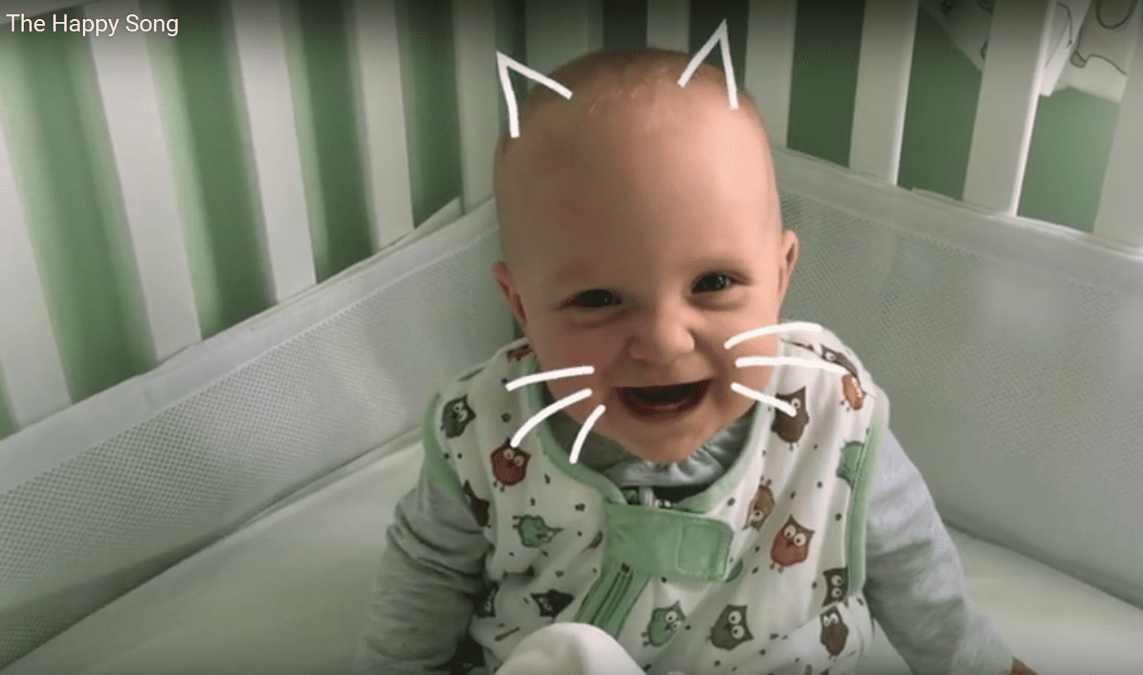 muziek die baby doet lachen