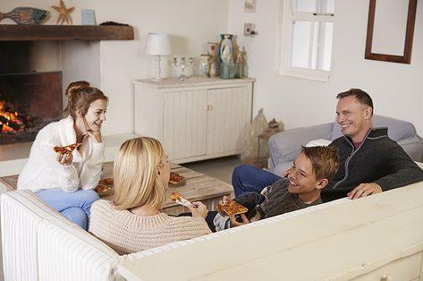 Vergaderen met het gezin
