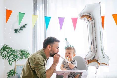 de eerste verjaardag van je kindje