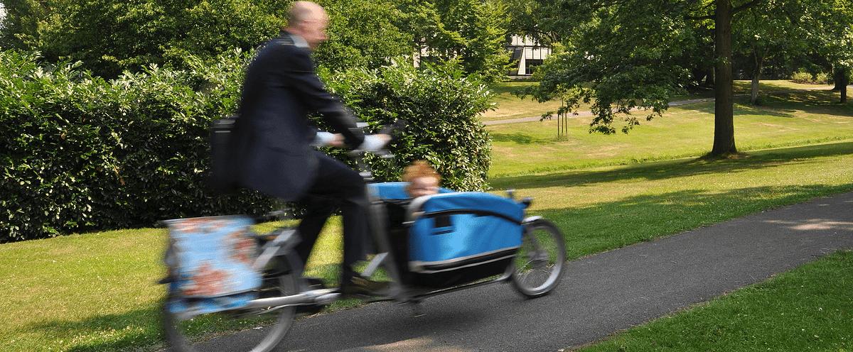 gezinnen op de fiets