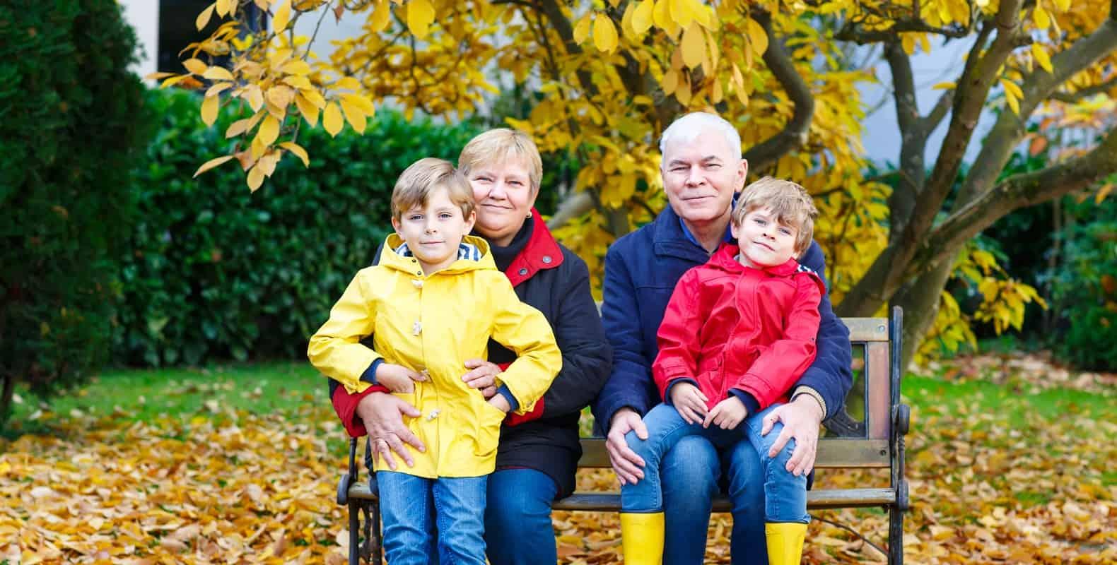 herstreis met kleinkinderen