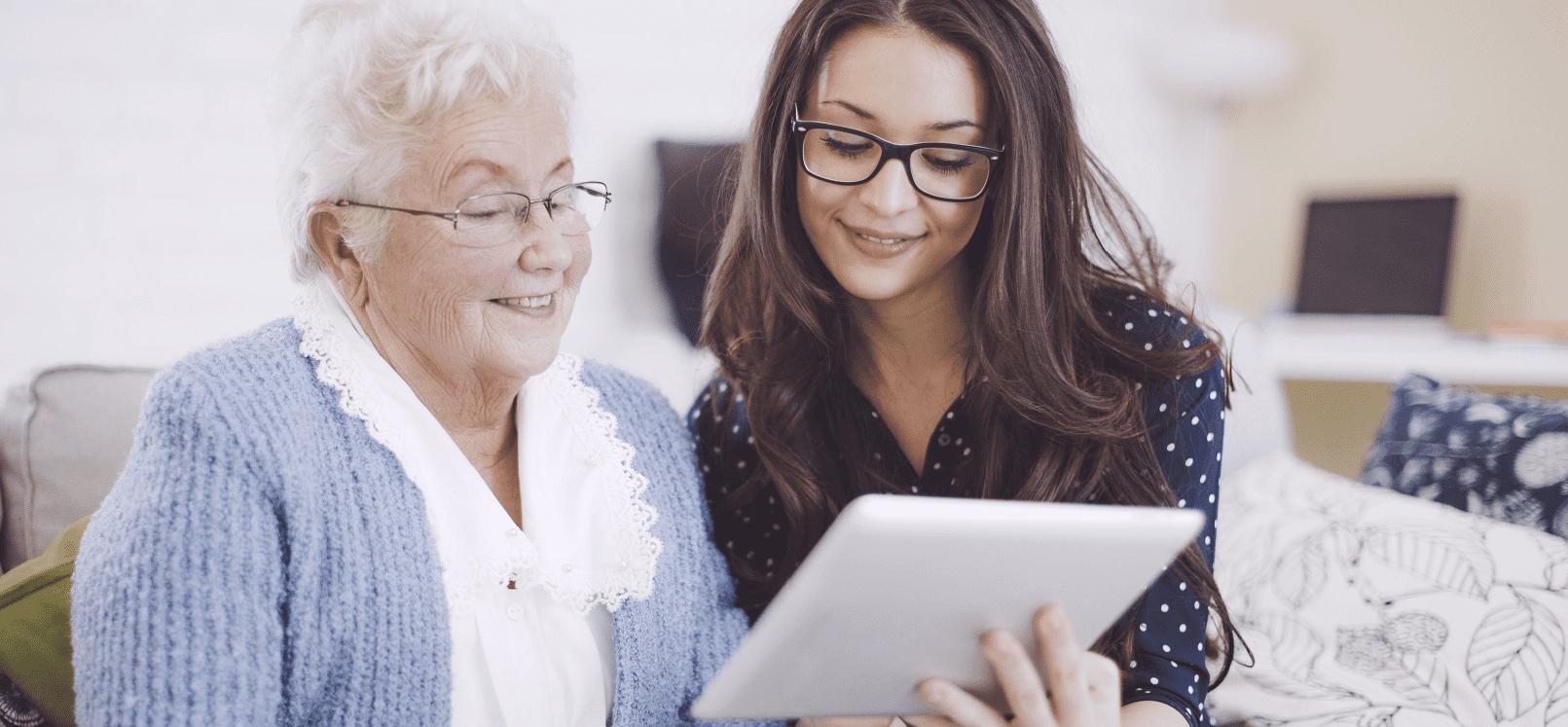 grootouders, internetbankieren